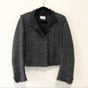 Akris Punto Fringe-Trim Cropped Tweed Jacket